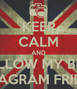 Poster: KEEP CALM AND FOLLOW MY BEST INSTAGRAM FRIENDS