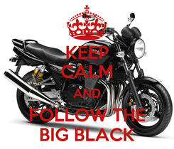 Poster: KEEP CALM AND FOLLOW THE BIG BLACK