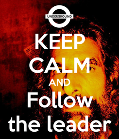 Poster: KEEP CALM AND Follow the leader