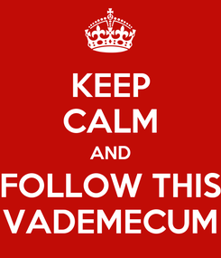 Poster: KEEP CALM AND FOLLOW THIS VADEMECUM