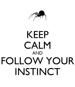 Poster: KEEP CALM AND FOLLOW YOUR INSTINCT