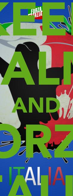 Poster: KEEP CALM AND FORZA ITALIA