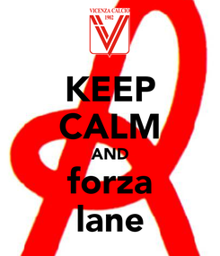 Poster: KEEP CALM AND forza lane