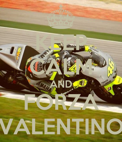 Poster: KEEP CALM AND FORZA VALENTINO