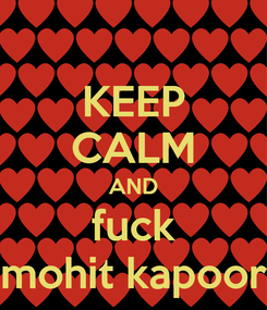 Poster: KEEP CALM AND fuck mohit kapoor