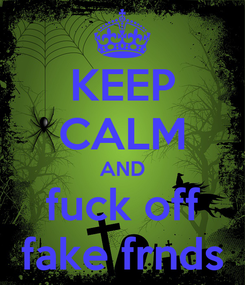 Poster: KEEP CALM AND fuck off fake frnds