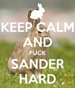 Poster: KEEP CALM AND FUCK SANDER HARD