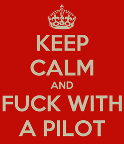 Poster: KEEP CALM AND FUCK WITH A PILOT