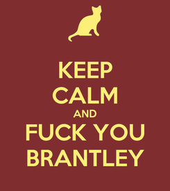 Poster: KEEP CALM AND FUCK YOU BRANTLEY