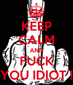 Poster: KEEP CALM AND FUCK YOU IDIOT !