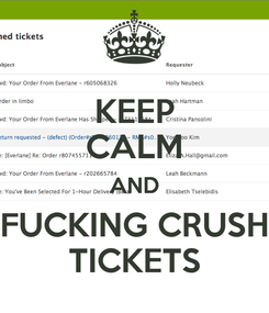 Poster: KEEP CALM AND FUCKING CRUSH TICKETS