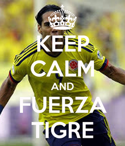 Poster: KEEP CALM AND FUERZA TIGRE