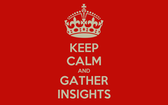 Poster: KEEP CALM AND GATHER INSIGHTS