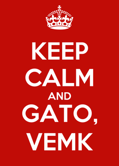 Poster: KEEP CALM AND GATO, VEMK