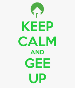 Poster: KEEP CALM AND GEE UP