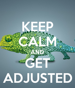 Poster: KEEP CALM AND GET ADJUSTED