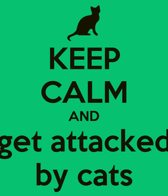 Poster: KEEP CALM AND get attacked by cats