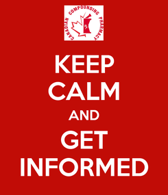 Poster: KEEP CALM AND GET INFORMED