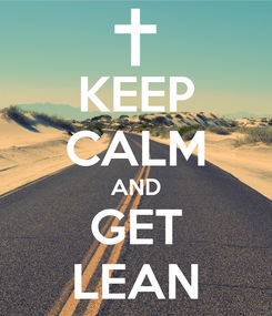Poster: KEEP CALM AND GET LEAN