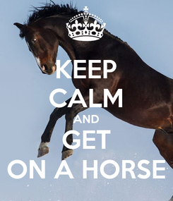 Poster: KEEP CALM AND GET ON A HORSE