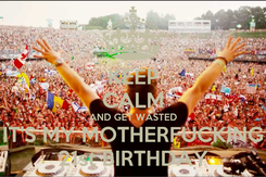 Poster: KEEP CALM AND GET WASTED IT'S MY MOTHERFUCKING 21st BIRTHDAY
