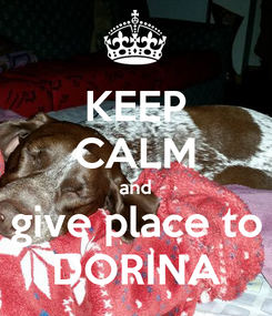 Poster: KEEP CALM and give place to DORINA