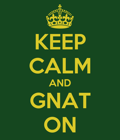 Poster: KEEP CALM AND GNAT ON