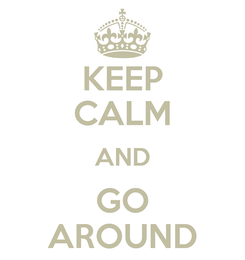 Poster: KEEP CALM AND GO AROUND