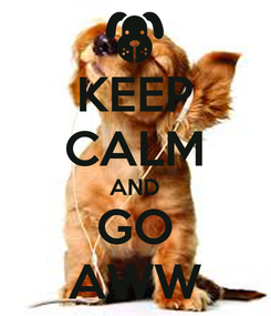 Poster: KEEP CALM AND GO AWW