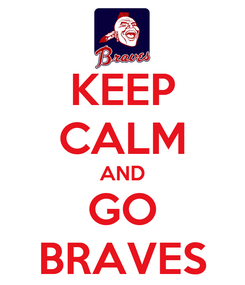 Poster: KEEP CALM AND GO BRAVES