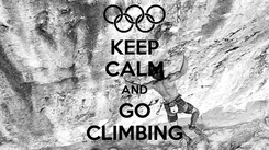 Poster: KEEP CALM AND GO CLIMBING