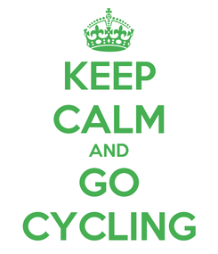 Poster: KEEP CALM AND GO CYCLING