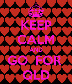 Poster: KEEP CALM AND GO  FOR  QLD
