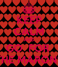 Poster: KEEP CALM AND GO  FOR  THE MARONS