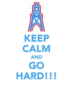Poster: KEEP CALM AND GO HARD!!!