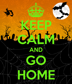 Poster: KEEP CALM AND GO HOME