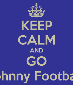Poster: KEEP CALM AND GO Johnny Football!
