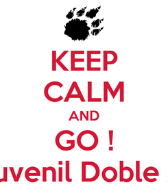 Poster: KEEP CALM AND GO ! Juvenil Doble A