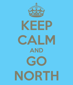 Poster: KEEP CALM AND GO NORTH