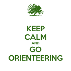 Poster: KEEP CALM AND GO ORIENTEERING