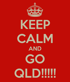 Poster: KEEP CALM AND GO QLD!!!!!