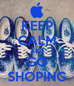 Poster: KEEP CALM AND GO SHOPING