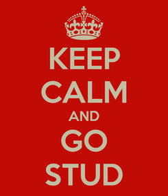 Poster: KEEP CALM AND GO STUD
