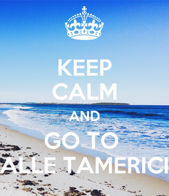 Poster: KEEP CALM AND GO TO  ALLE TAMERICI