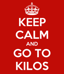 Poster: KEEP CALM AND GO TO KILOS