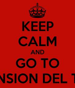 Poster: KEEP CALM AND GO TO LA MANSION DEL TERROR