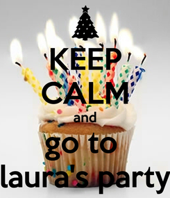 Poster: KEEP CALM and go to  laura's party