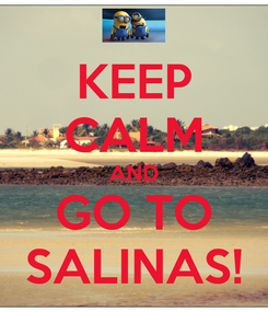 Poster: KEEP CALM AND GO TO SALINAS!