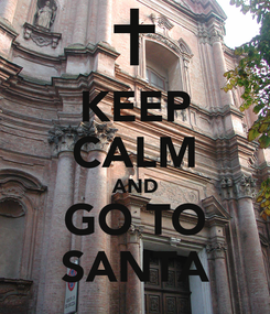 Poster: KEEP CALM AND GO TO SANTA