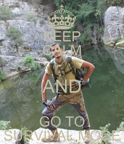 Poster: KEEP CALM AND GO TO SURVIVAL MODE